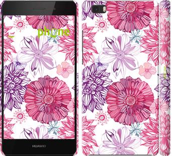 """Чехол для Huawei Ascend P8 Lite """"Цветочный узор v2"""" - интернет-магазин чехлов endorphone.com.ua"""