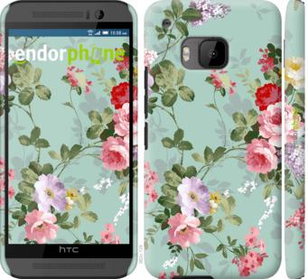 """Чехол для HTC One M9 """"Цветочные обои 2"""" - интернет-магазин чехлов endorphone.com.ua"""