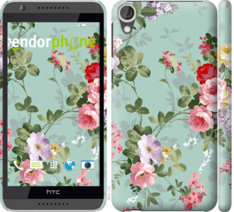 """Чехол для HTC Desire 820 """"Цветочные обои 2"""" - интернет-магазин чехлов endorphone.com.ua"""