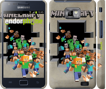 "Чехол для Samsung Galaxy S2 Plus i9105 ""Minecraft 6"" - интернет-магазин чехлов endorphone.com.ua"