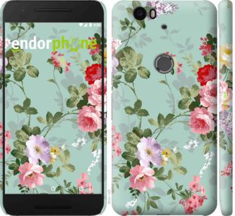 """Чехол для Huawei Nexus 6P """"Цветочные обои 2"""" - интернет-магазин чехлов endorphone.com.ua"""