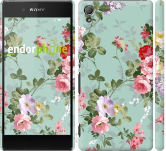 """Чехол для Sony Xperia Z3+ Dual E6533 """"Цветочные обои 2"""" - интернет-магазин чехлов endorphone.com.ua"""