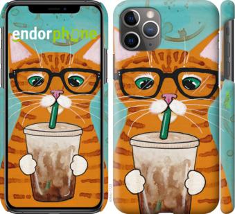 """Чехол для iPhone 11 Pro Max """"Зеленоглазый кот в очках"""" - интернет-магазин чехлов endorphone.com.ua"""