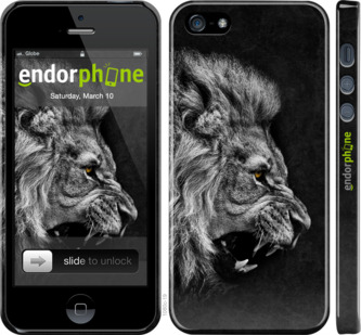 "Чехол для iPhone 5 ""Лев"" - интернет-магазин чехлов endorphone.com.ua"