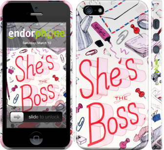 "Чехол для iPhone 5 ""she"