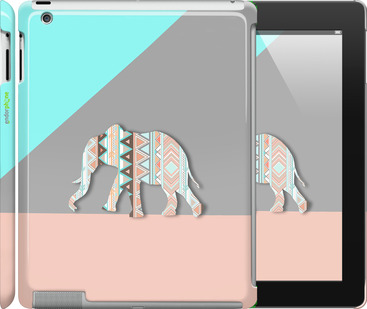 "Чехол для iPad 2/3/4 ""Узорчатый слон"" - интернет-магазин чехлов endorphone.com.ua"