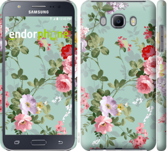 """Чехол для Samsung Galaxy J7 (2016) J710F """"Цветочные обои 2"""" - интернет-магазин чехлов endorphone.com.ua"""