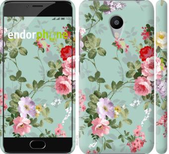 """Чехол для Meizu M3 """"Цветочные обои 2"""" - интернет-магазин чехлов endorphone.com.ua"""