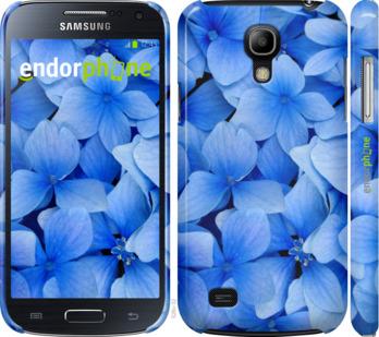 "Чехол для Samsung Galaxy S4 mini ""Синие цветы"" - интернет-магазин чехлов endorphone.com.ua"