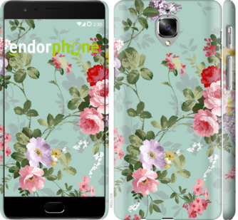 """Чехол для OnePlus 3 """"Цветочные обои 2"""" - интернет-магазин чехлов endorphone.com.ua"""
