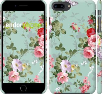 """Чехол для iPhone 7 Plus """"Цветочные обои 2"""" - интернет-магазин чехлов endorphone.com.ua"""