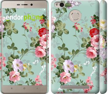 """Чехол для Xiaomi Redmi 3 Pro """"Цветочные обои 2"""" - интернет-магазин чехлов endorphone.com.ua"""