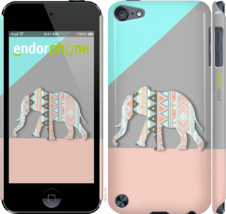 "Чехол для iPod Touch 5 ""Узорчатый слон"" - интернет-магазин чехлов endorphone.com.ua"