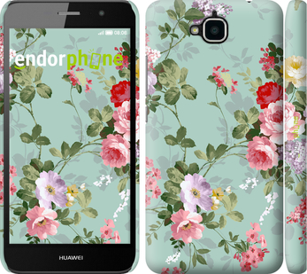 """Чехол для Huawei Y6 Pro """"Цветочные обои 2"""" - интернет-магазин чехлов endorphone.com.ua"""