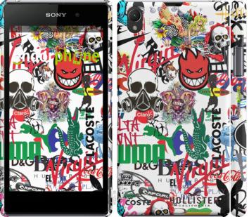 "Чехол для Sony Xperia Z1 C6902 ""Many different logos"" - интернет-магазин чехлов endorphone.com.ua"