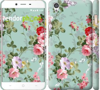 """Чехол для OnePlus X """"Цветочные обои 2"""" - интернет-магазин чехлов endorphone.com.ua"""