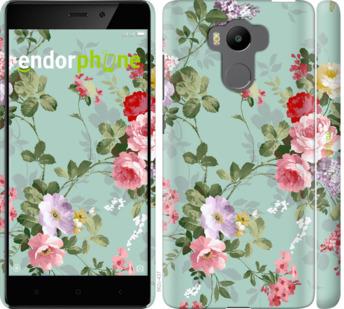 """Чехол для Xiaomi Redmi 4 pro """"Цветочные обои 2"""" - интернет-магазин чехлов endorphone.com.ua"""