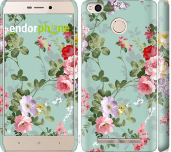 """Чехол для Xiaomi Redmi 3x """"Цветочные обои 2"""" - интернет-магазин чехлов endorphone.com.ua"""