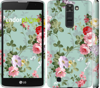 """Чехол для LG K7 """"Цветочные обои 2"""" - интернет-магазин чехлов endorphone.com.ua"""