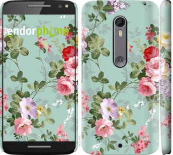 """Чехол для Motorola Moto X Style """"Цветочные обои 2"""" - интернет-магазин чехлов endorphone.com.ua"""