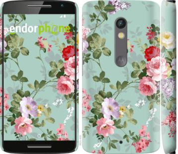 """Чехол для Motorola Moto X Play """"Цветочные обои 2"""" - интернет-магазин чехлов endorphone.com.ua"""