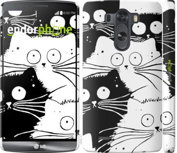 """Чехол для LG G3 D855 """"Коты v2"""" - интернет-магазин чехлов endorphone.com.ua"""