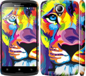 """Чехол для Lenovo S820 """"Разноцветный лев"""" - интернет-магазин чехлов endorphone.com.ua"""