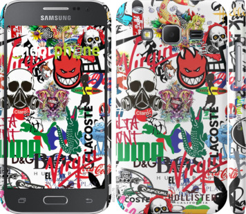 "Чехол для Samsung Galaxy Core Prime VE G361H ""Many different logos"" - интернет-магазин чехлов endorphone.com.ua"