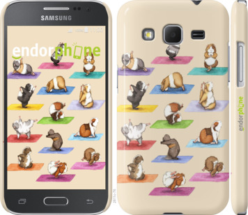 "Чехол для Samsung Galaxy Core Prime G360H ""Йога морских свинок"" - интернет-магазин чехлов endorphone.com.ua"