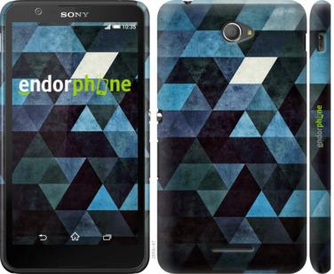 "Чехол для Sony Xperia E4 Dual E2115 ""Треугольники"" - интернет-магазин чехлов endorphone.com.ua"