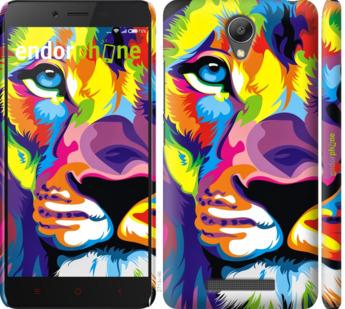"""Чехол для Xiaomi Redmi Note 2 """"Разноцветный лев"""" - интернет-магазин чехлов endorphone.com.ua"""