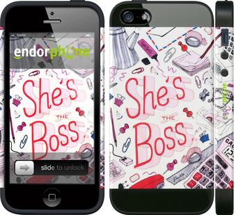 "Чехол для телефона ""she's the  boss"" - интернет-магазин чехлов endorphone.com.ua"