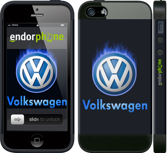 "iPhone 5 ""Volkswagen. Fire logo"" - интернет-магазин чехлов endorphone.com.ua"