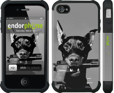 "Чехол для iPhone 4 ""Доберман"" - интернет-магазин чехлов endorphone.com.ua"