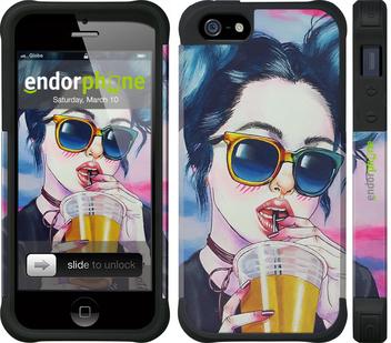 """Чехол для телефона """"Арт-девушка в очках"""" - интернет-магазин чехлов endorphone.com.ua"""