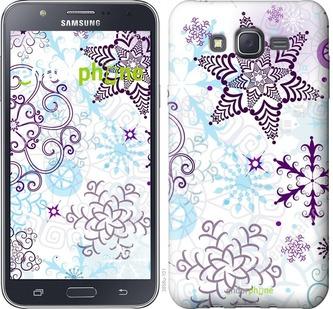 "Чехол для Samsung Galaxy J7 J700H ""снежинки 1"" - интернет-магазин чехлов endorphone.com.ua"