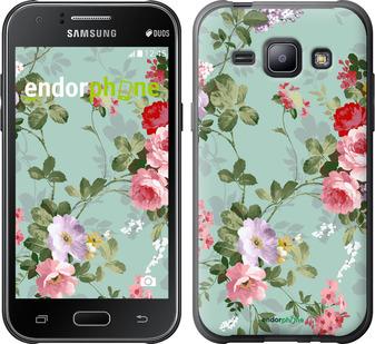"""Чехол для Samsung Galaxy J1 J100H """"Цветочные обои 2"""" - интернет-магазин чехлов endorphone.com.ua"""