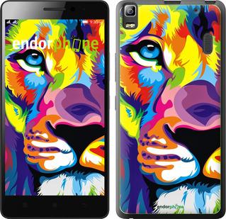 """Чехол для Lenovo K3 Note K50-T5 """"Разноцветный лев"""" - интернет-магазин чехлов endorphone.com.ua"""