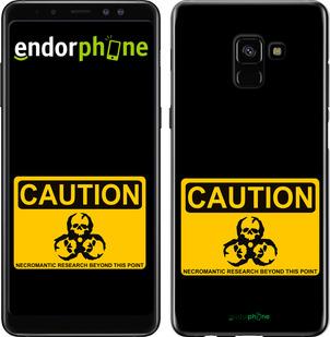 "TPU черный чехол для Samsung Galaxy A8 Plus 2018 A730F ""biohazard 36"" - интернет-магазин чехлов endorphone.com.ua"