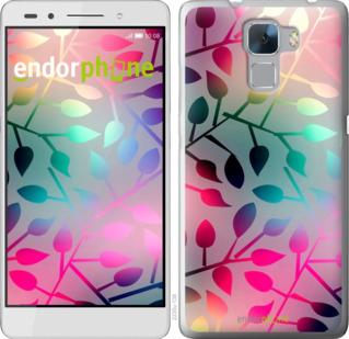 """Силиконовый чехол для Huawei Honor 7 """"Листья"""" - интернет-магазин чехлов endorphone.com.ua"""