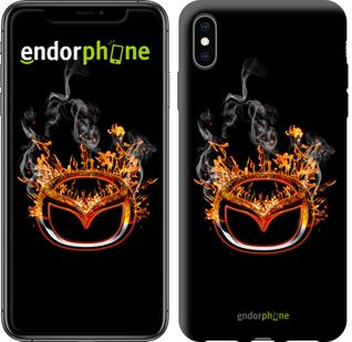 "Чехол для iPhone XS Max ""Burning Mazda logo"" - интернет-магазин чехлов endorphone.com.ua"