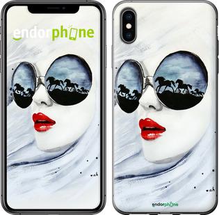 """Чехол для iPhone XS Max """"Девушка акварелью"""" - интернет-магазин чехлов endorphone.com.ua"""