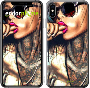 "Чехол для iPhone XS Max ""Девушка в тату"" - интернет-магазин чехлов endorphone.com.ua"