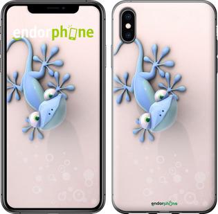 "Чехол для iPhone XS Max ""Геккончик"" - интернет-магазин чехлов endorphone.com.ua"