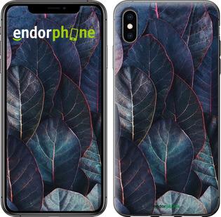 "Чехол для iPhone XS Max ""Листья v3"" - интернет-магазин чехлов endorphone.com.ua"