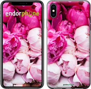 """Чехол для iPhone XS Max """"Розовые пионы"""" - интернет-магазин чехлов endorphone.com.ua"""