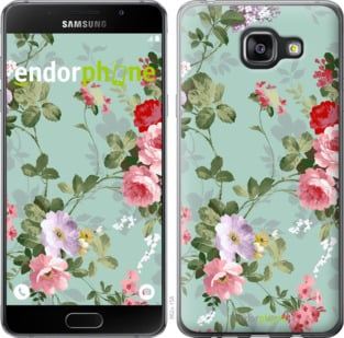 """Чехол для Samsung Galaxy A5 (2016) A510F """"Цветочные обои 2"""" - интернет-магазин чехлов endorphone.com.ua"""