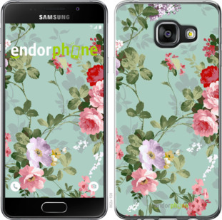 """Чехол для Samsung Galaxy A3 (2016) A310F """"Цветочные обои 2"""" - интернет-магазин чехлов endorphone.com.ua"""