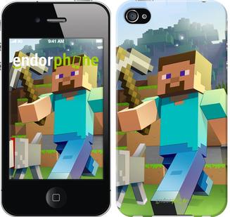 "Чехол для iPhone 4s ""Minecraft 4"" - интернет-магазин чехлов endorphone.com.ua"