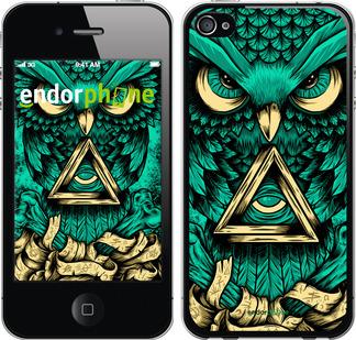 """Чехол для iPhone 4s """"Сова Арт-тату"""" - интернет-магазин чехлов endorphone.com.ua"""